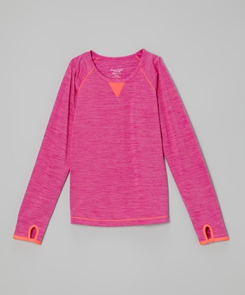 Future Star by Capezio Pink Long-Sleeve Tee - Girls
