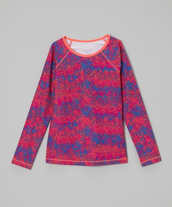 Future Star by Capezio Pink & Purple Long-Sleeve Tee - Girls