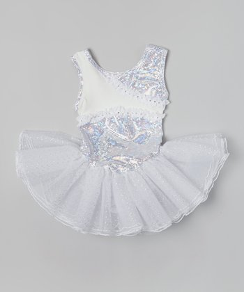 White Ruffle Tutu Dress - Girls
