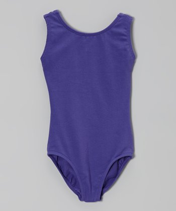 Purple Sleeveless Leotard - Toddler & Girls