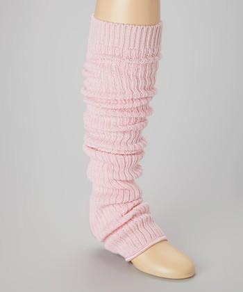 Pink Stirrup Leg Warmers