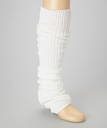 White Stirrup Leg Warmers