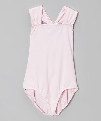 Pink Halter Leotard - Girls
