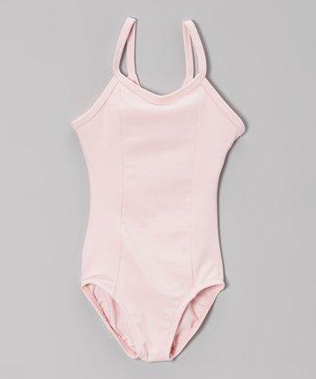 Pink Princess Seam Camisole Leotard - Girls
