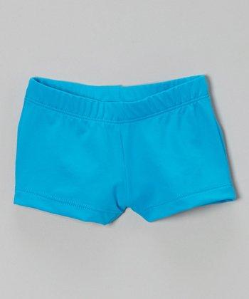 Turquoise Shorts - Girls