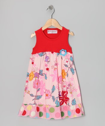 Pink Hawaiian Floral Dress - Toddler & Girls