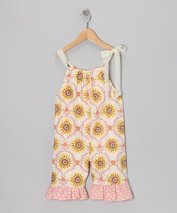 Lemon Cream Tie Jumpsuit - Toddler & Girls