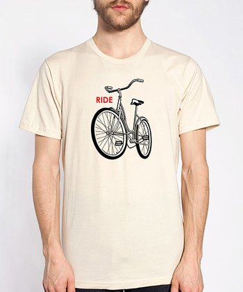 Cream Bike Organic Short-Sleeve Tee - Men