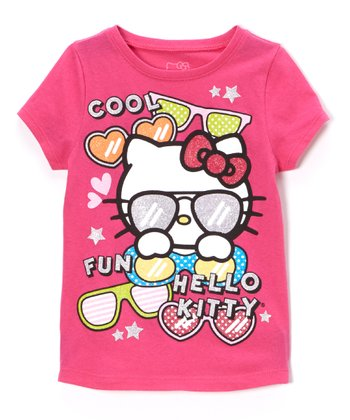 Fuchsia & Purple 'Hello Kitty' Tee - Toddler & Girls