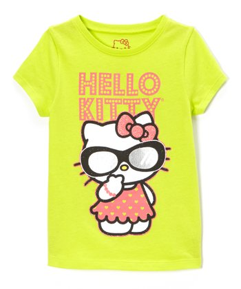 Lime Punch & Orange 'Hello Kitty' Tee - Toddler & Girls