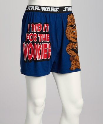 Blue Star Wars Chewbacca Boxers - Men