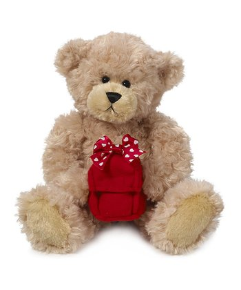 Tan & Red Gift Box Bear Plush Toy