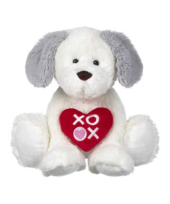 White 'XOXO' Puppy Medium Plush Toy