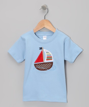 Sky Sailboat Wind Tee - Toddler