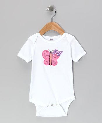 White Butterfly Bodysuit - Infant
