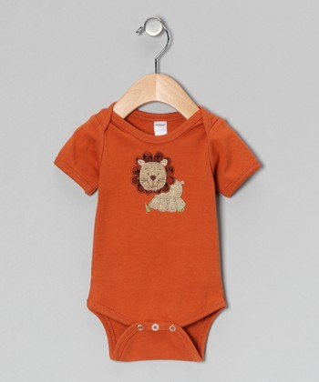 Orange Lion Bodysuit