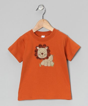 Orange Lion Tee - Toddler