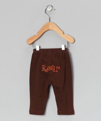 Brown 'Roar' Pants - Infant & Toddler