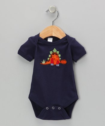 Navy Stegosaurus Bodysuit - Infant