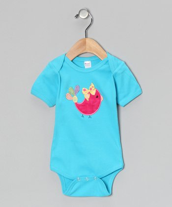Turquoise Bird Bodysuit - Infant