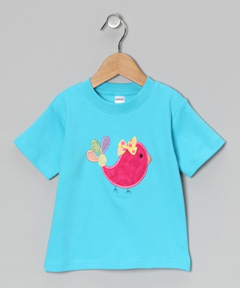 Turquoise Bird Tee - Toddler