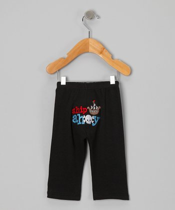 Black 'Ship Ahoy' Pants - Infant & Toddler