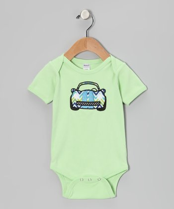 Green Race Car Bodysuit - Infant