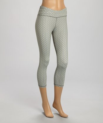 Gray Dot Faith Capri Leggings