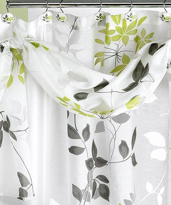 Mayan Leaf Shower Curtain & Scarf