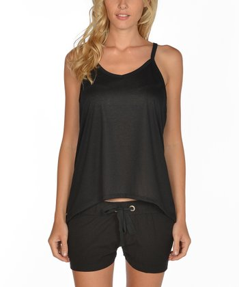 Black Racerback Tank - Women