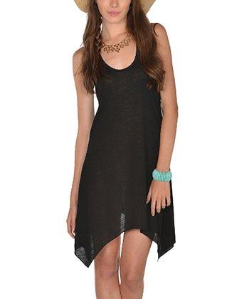 Lagaci Black Sidetail Dress - Women