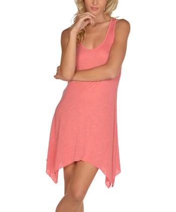 Lagaci Coral Sidetail Dress - Women