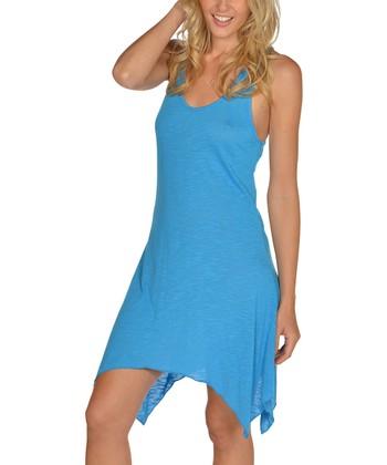 Lagaci Blue Sidetail Dress - Women