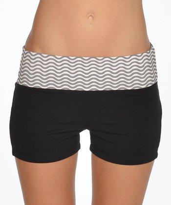 Lagaci Charcoal & Black Shorts