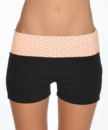 Lagaci Mango & Black Shorts