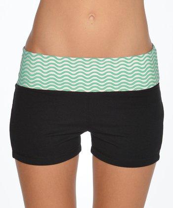 Lagaci Mint & Black Shorts