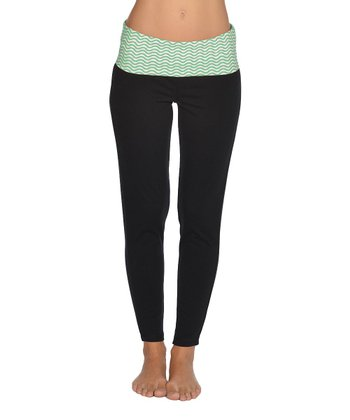 Lagaci Mint & Black Pants