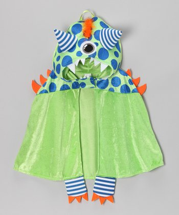 Green Mr. Poxx Monster Cloak - Toddler & Kids