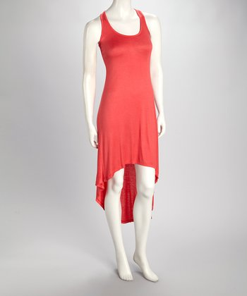 Coral Hi-Low Tank Dress