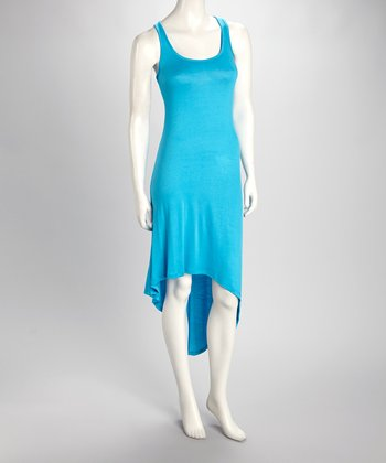 Teal Hi-Low Tank Dress