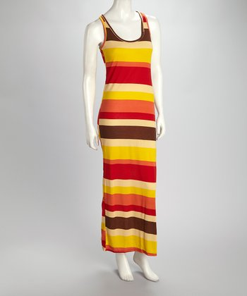Lemon Stripe Maxi Dress