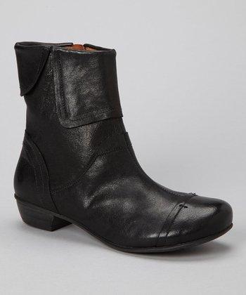 Brako Black Fold-Over Leather Boot