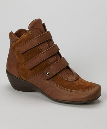 Cognac Ellen Wedge Ankle Boot