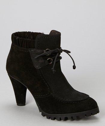 Antia Shoes Black Gloria Suede Bootie