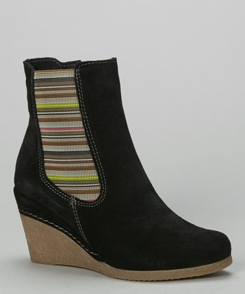 Eric Michael by Laurevan Black Claudia Wedge Boot
