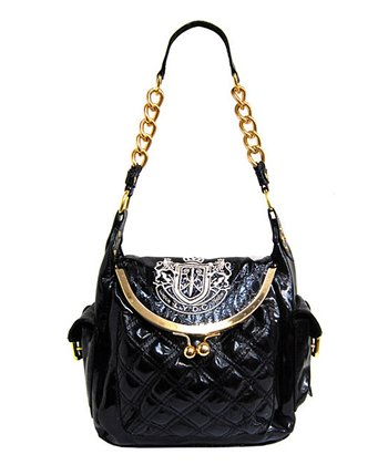 Black & Gold Quilted Shoulder Bag