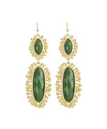 Gold & Green Aurelia Drop Earrings