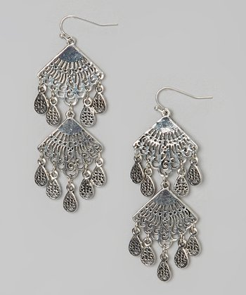 Silver Chandelier Paola Earrings