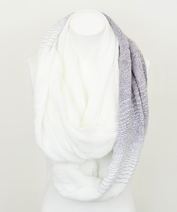 Gray & White Peppered Infinity Scarf
