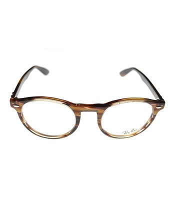 Brown Stripe Eyeglasses